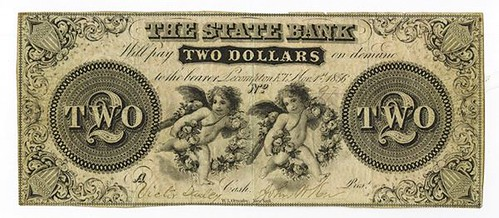 State Bank, Lecompton, K.T., 1856 Issued Obsolete Banknote