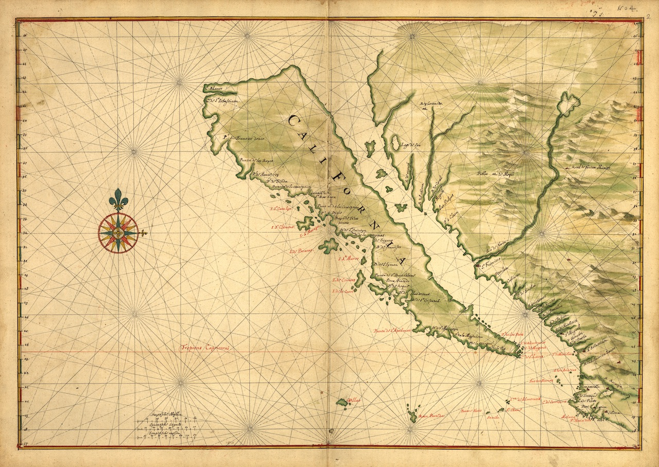 Maps Showing California as an Island – The Public Domain Review on