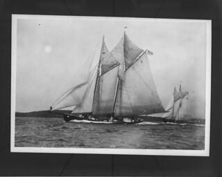 Start of the Fishermen's International Schooner race, Halifax, Nova Scotia / Départ de la course internationale de goélettes de pêche, Halifax (Nouvelle-Écosse)