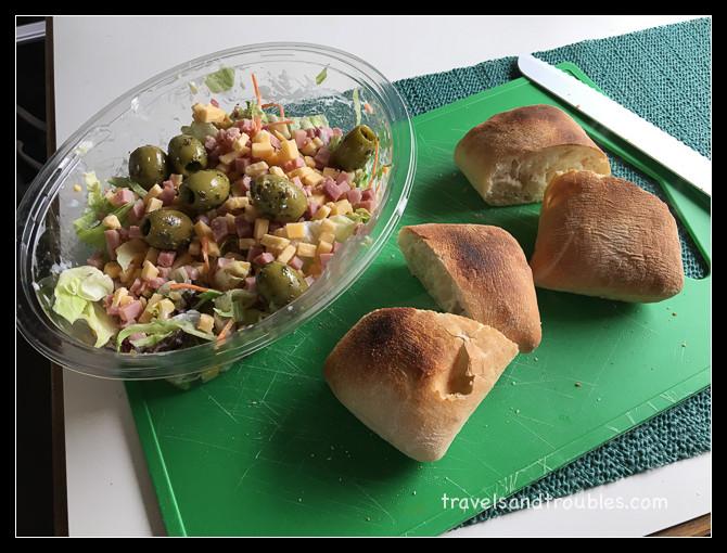 Ham/kaas maaltijd salade