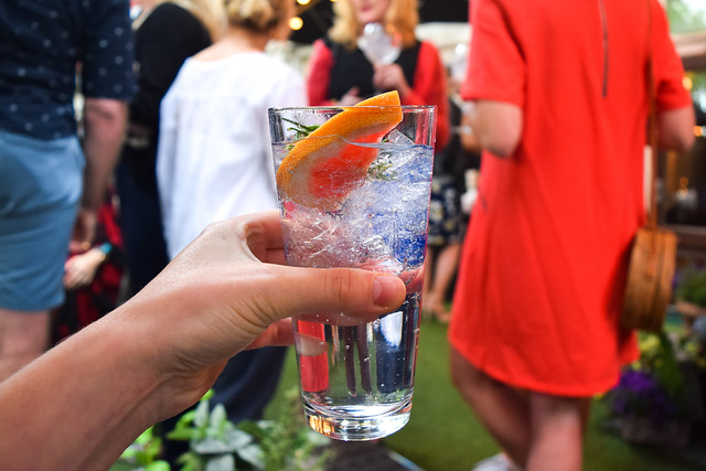 Beefeater Gin and Tonic at The Royal Horseguards Hotel's Secret Herb Garden #gin #tonic #g&t #gingarden #pubgarden #hotel #london