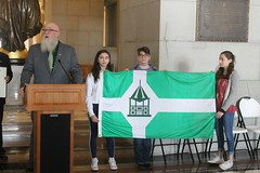 Rep. Buckbee & New Milford Flag