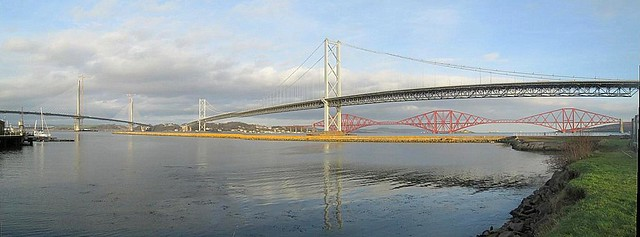 New Forth Road Bridge 48, Three Bridges Panorama
