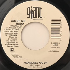 COLOR ME BADD:I WANNA SEX YOU UP(LABEL SIDE-A)