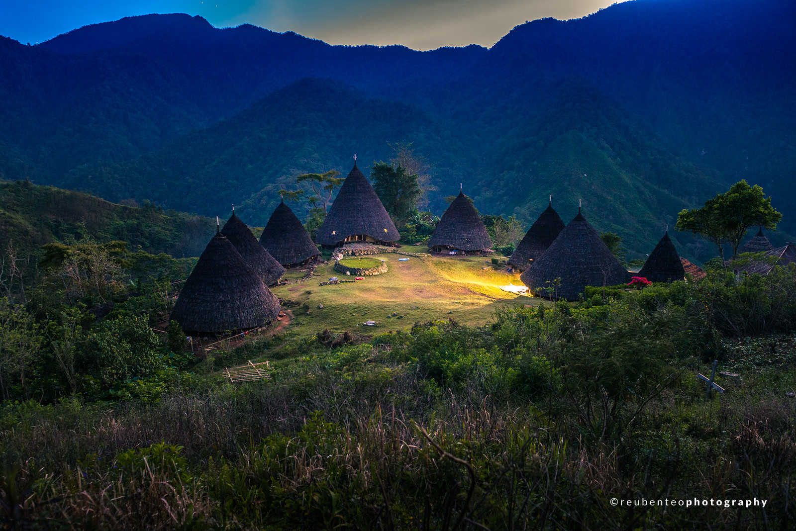 Sunrise at Wae Rebo Village, Flores
