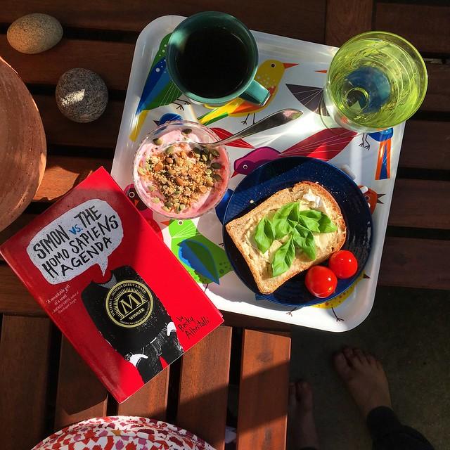 saturday, breakfast, balcony, helsingborg