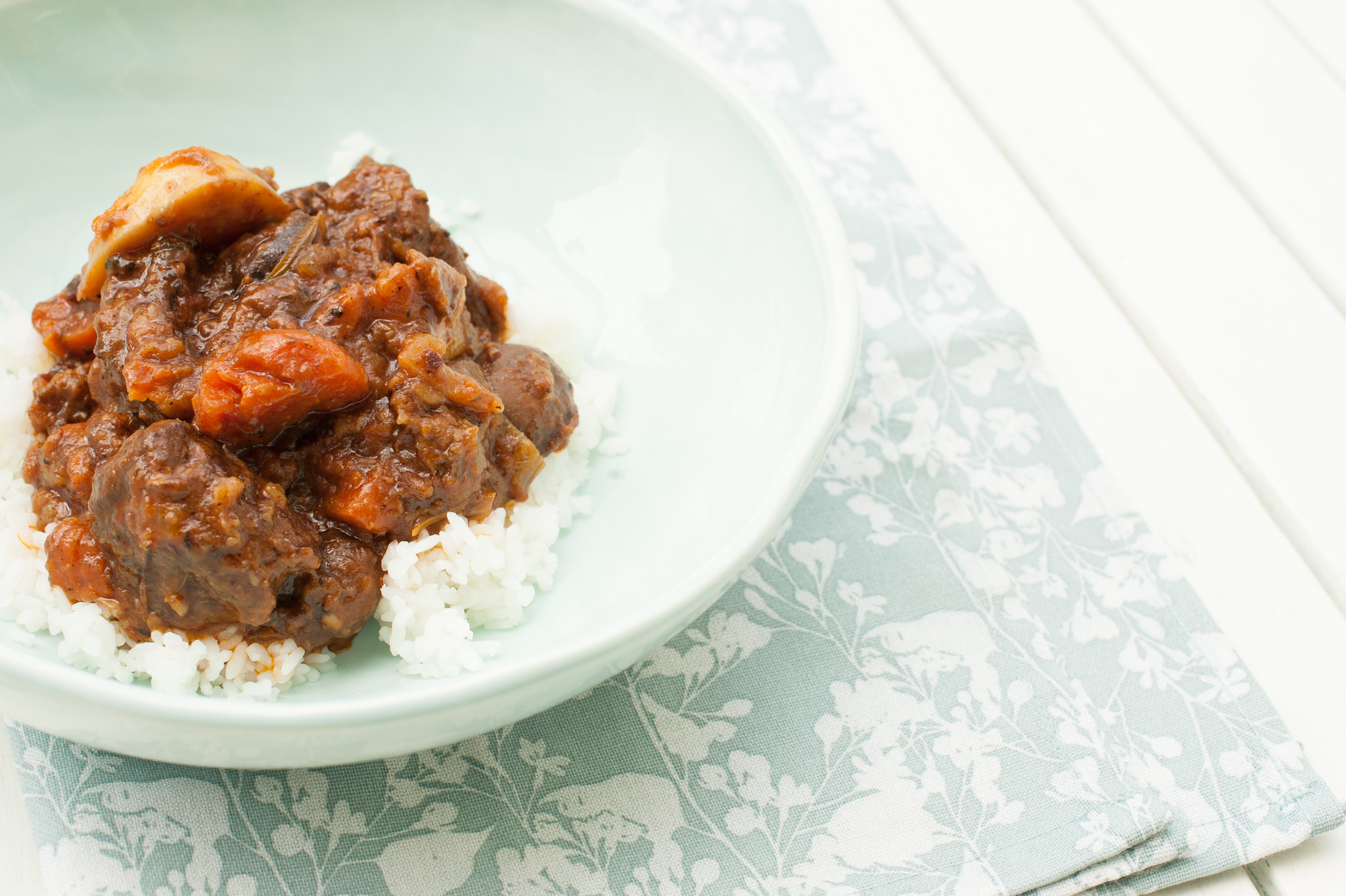 Beef Stew & Rice