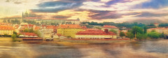 Across the river - Riverside Panorama Prague