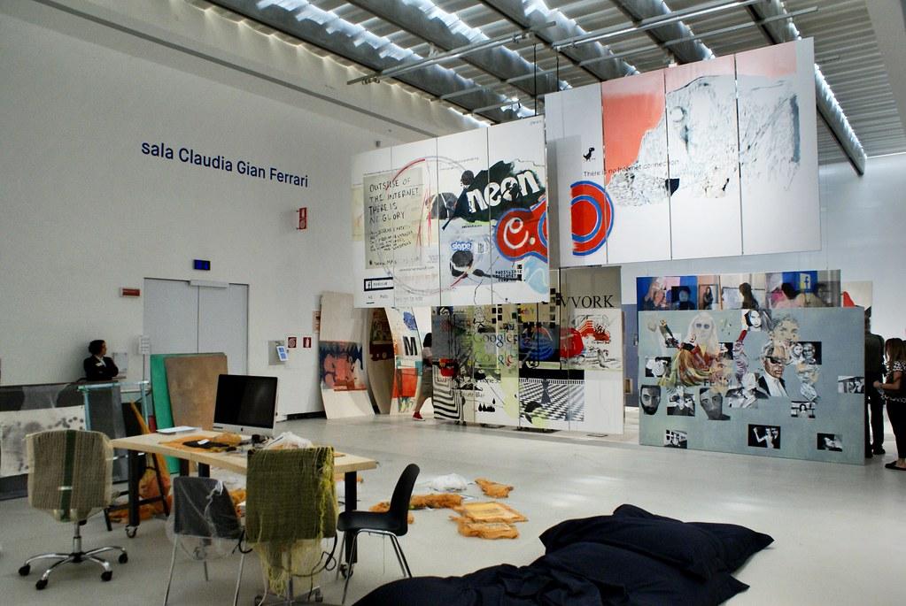 Oeuvres du Musée d'art contemporain Maxxi à Rome.