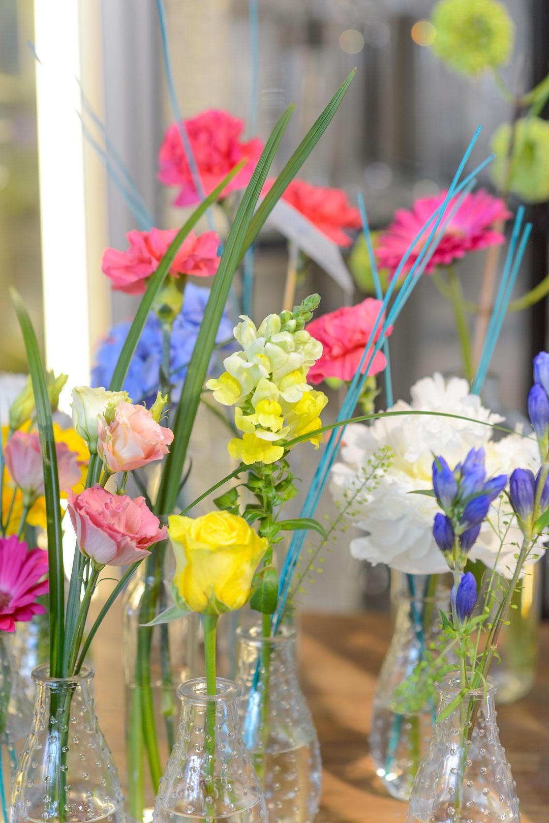 Beautiful flower arrangement at Kukkakauppa Kanerva