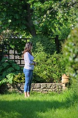 Canon EOS 60D - My Lovely wife Lisa in the garden