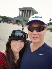 With my wife in Hanoi.