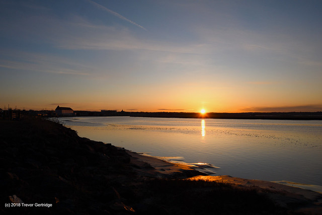 Sunrise on Earth Day 2018 in Moncton