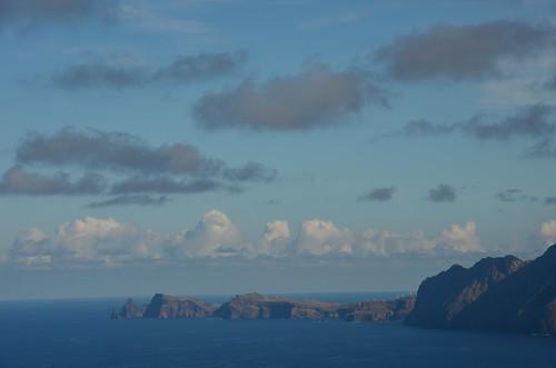 Blick nur auf die Oststpitze Madeiras