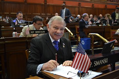 Rep. Simanski on the last day of session