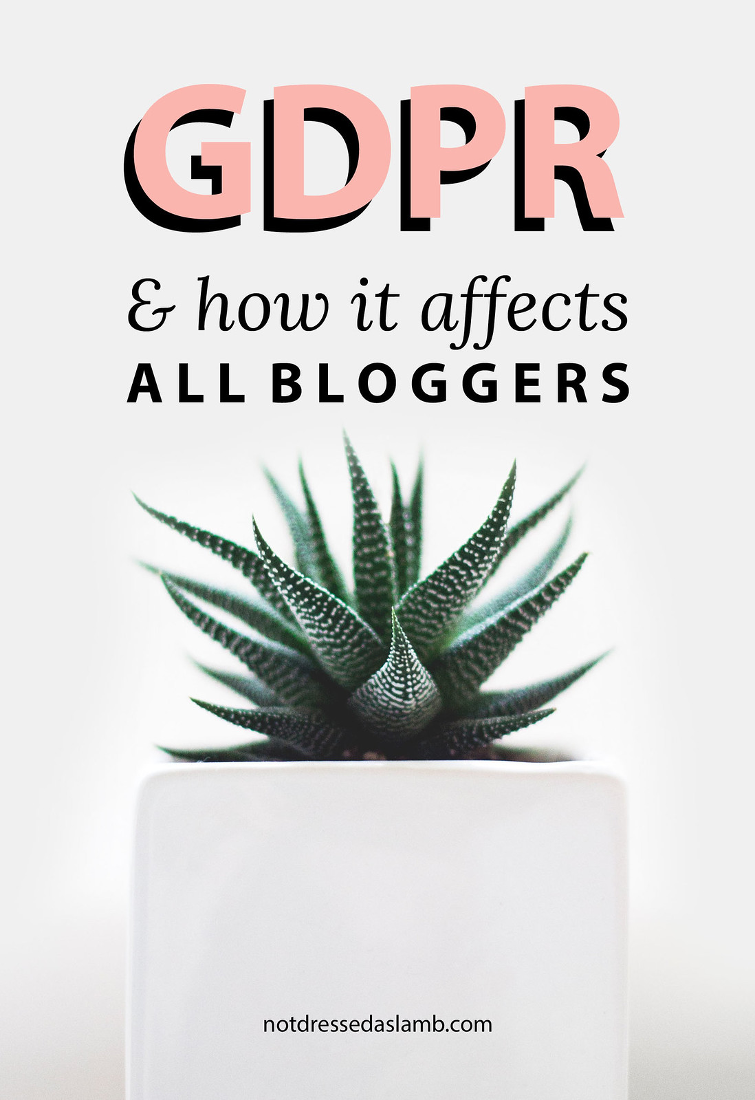 The GDPR and How It Affects ALL Bloggers | Not Dressed As Lamb