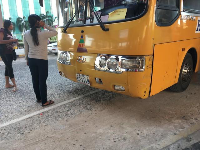 ケップから国境まで乗ったバス