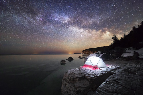 milkyway night nightlights nightsky stars starscape camping tent longexposure landscape landscapes brucepeninsula brucepeninsulanationalpark lake lakehuron ontario canada canon backcountry edge rokinon14mmf28 canon5dmarkiv 5div sleep