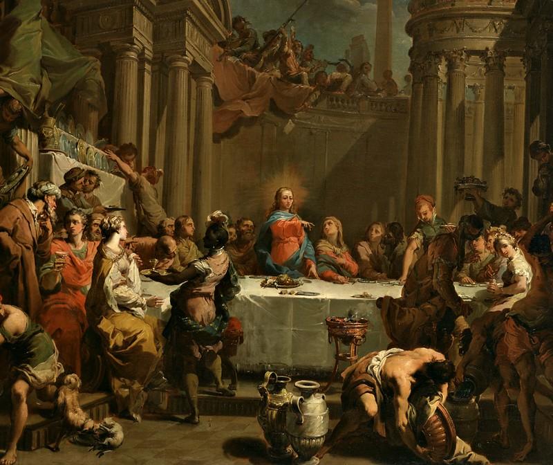 Gaetano Gandolfi - The Marriage at Cana (1766)