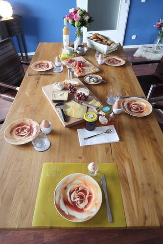 Frühstück am Sonntagmorgen in Koblenz (Tischbild)