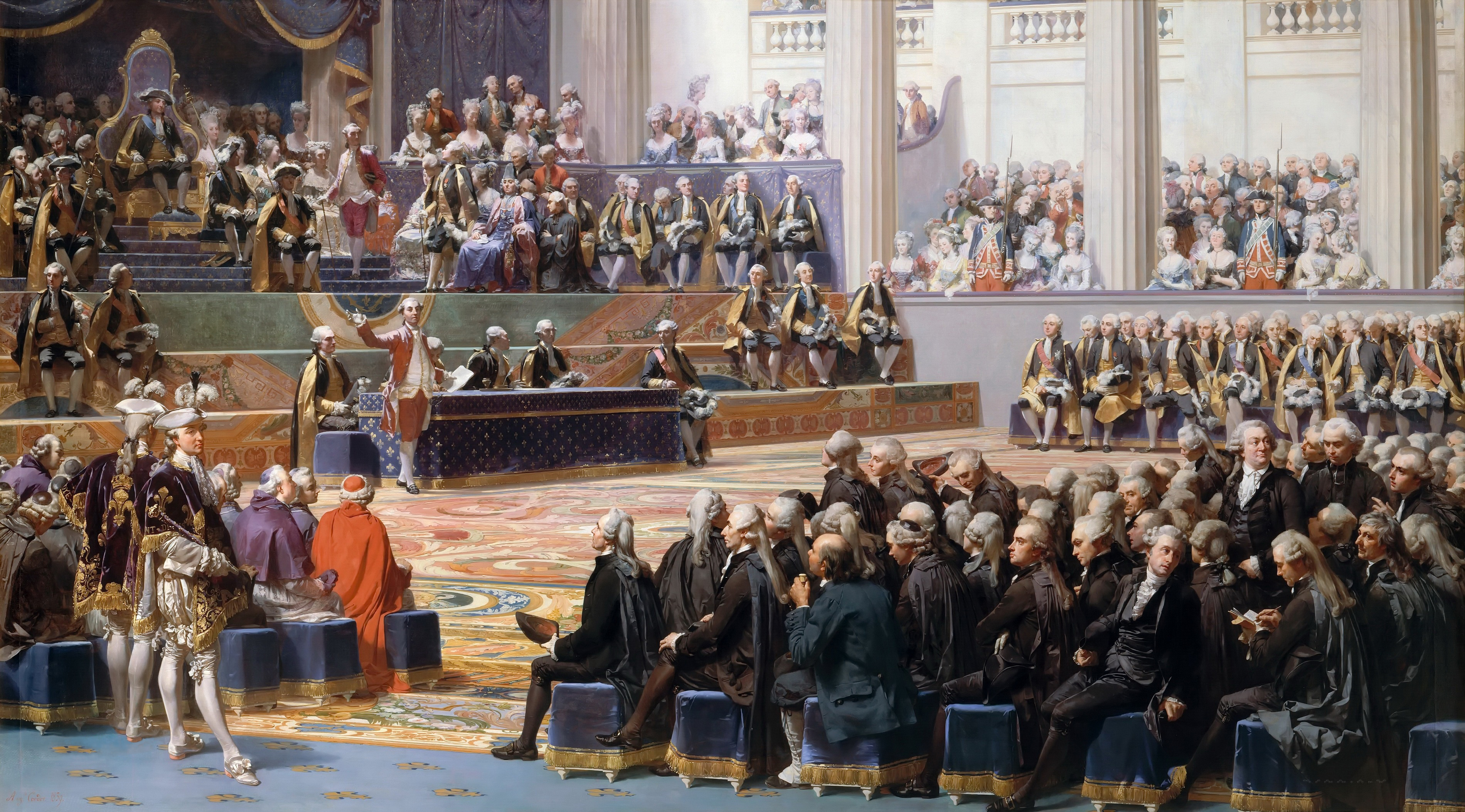 Inauguration of the General Estates, May 5, 1789, by Auguste Couder (1839), oil on canvas, 400 x 715 cm, Versailles, Musée national du château et des Trianons