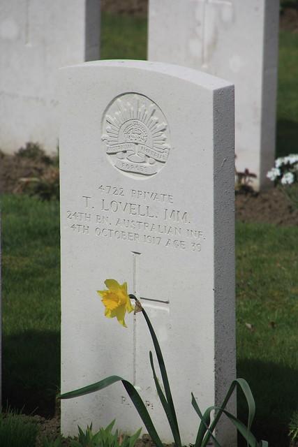 Hooge Crater Cemetery, WW1. Belgium.