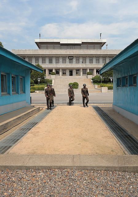 Panmunjeom, local onde os líderes das duas Coreias se reunirão. - Créditos: Corpo de Imprensa da Cúpula Intercoreana