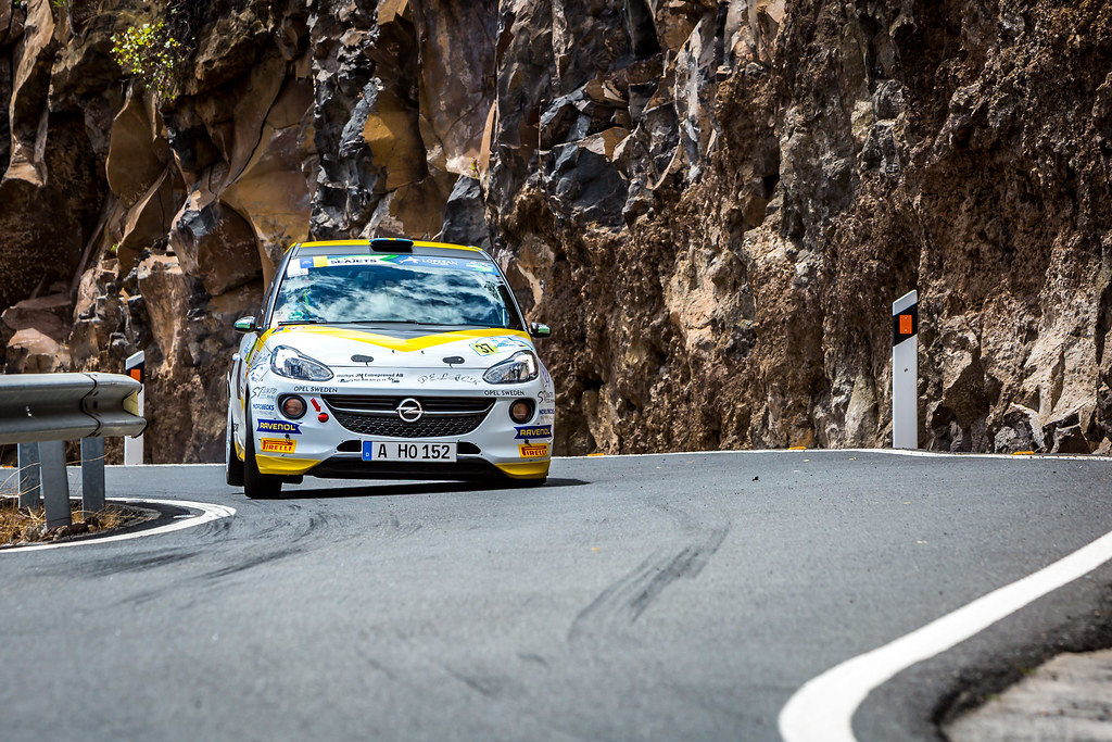 37 KRISTENSSON  Tom, APPELSKOG Henrik, Adac opel Rallye junior team, Opel adam R2, action during the 2018 European Rally Championship ERC Rally Islas Canarias, El Corte Inglés,  from May 3 to 5, at Las Palmas, Spain - Photo Thomas Fenetre / DPPI