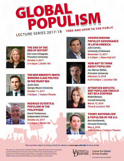 Professor brings the Global Populism Lecture Series to a close