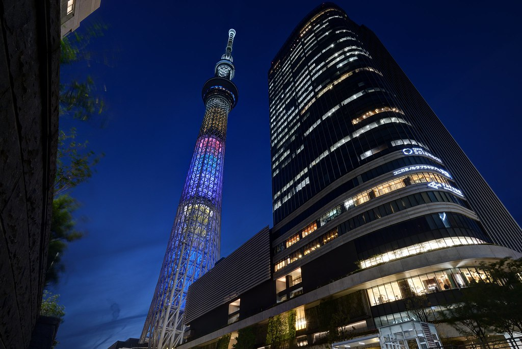 "Tokyo Sky Tree ""Avengers Infinite War""Ver."