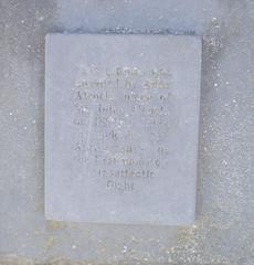 Photo of John Alcock stone plaque