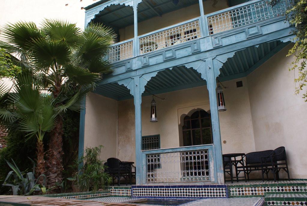 Maison d'hôte dans la médina (vieille ville) de Fès.