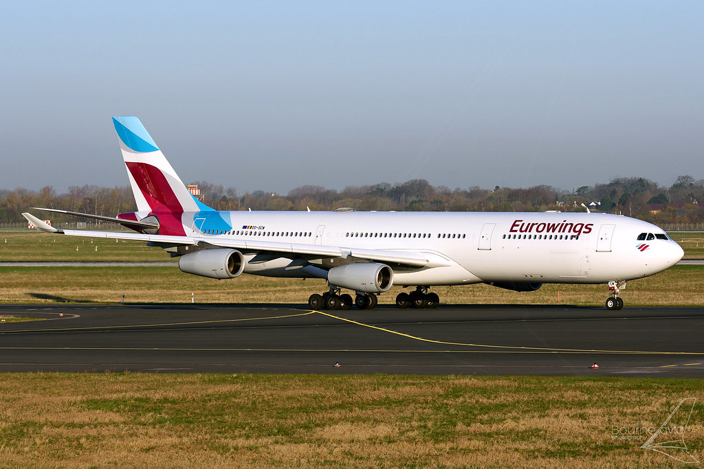 OO-SCW - Airbus A340-313 - Eurowings - Download Photo