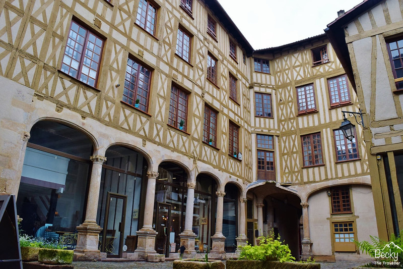 Historic Limoges Cour du Temple - France