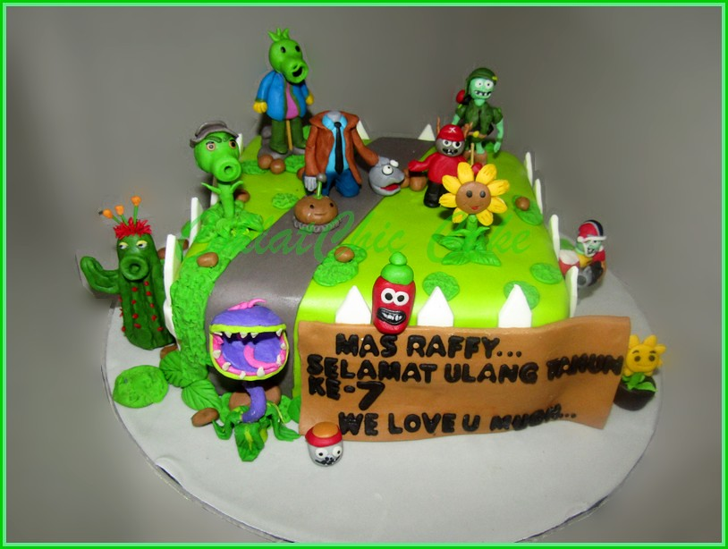 Cake Plants vs Zombies Mas Raffy 20 cm