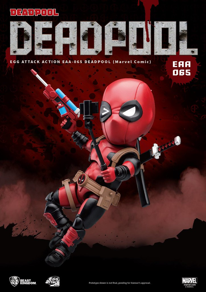 耍帥賣萌樣樣都精通!! 野獸國 Egg Attack Action 系列【死侍(漫畫版)】Deadpool(Marvel Comic) EAA-065