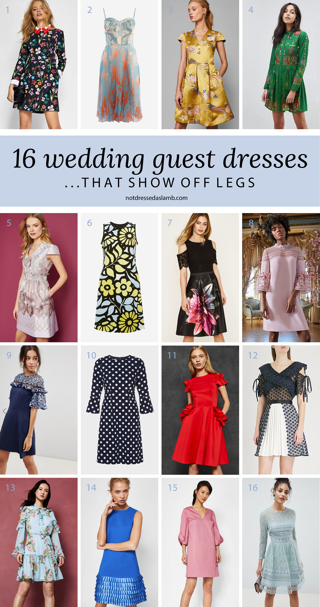 What to Wear to a Summer Wedding for All Shapes & Sizes: 16 Wedding Guest Dresses That Show Off Legs - Not Dressed As Lamb