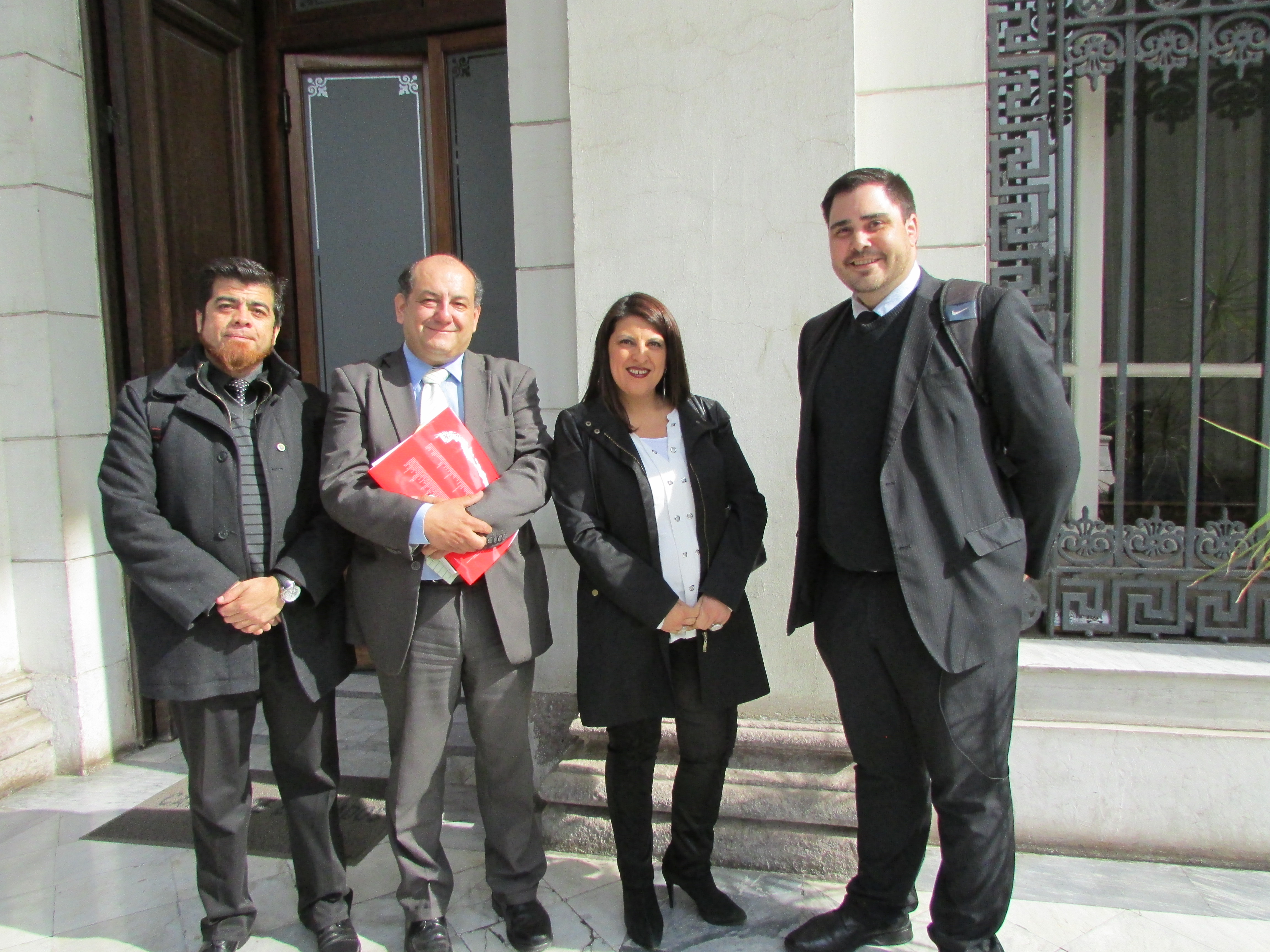 AFUDEP con Diputados Soto, Gutierrez y Coloma por proyecto Homologación Práctica Profesional – Mayo 2018