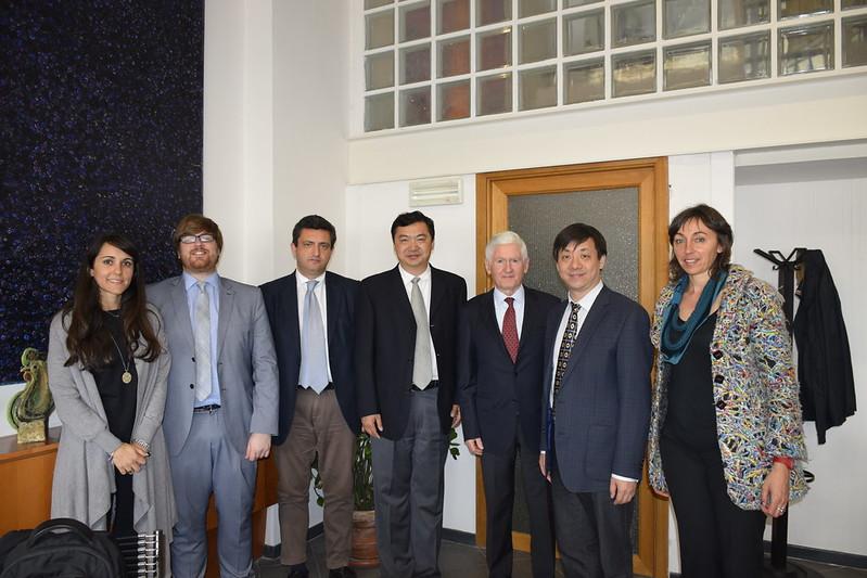 Una delegazione della Tsinghua University di Pechino in visita a Città della Scienza
