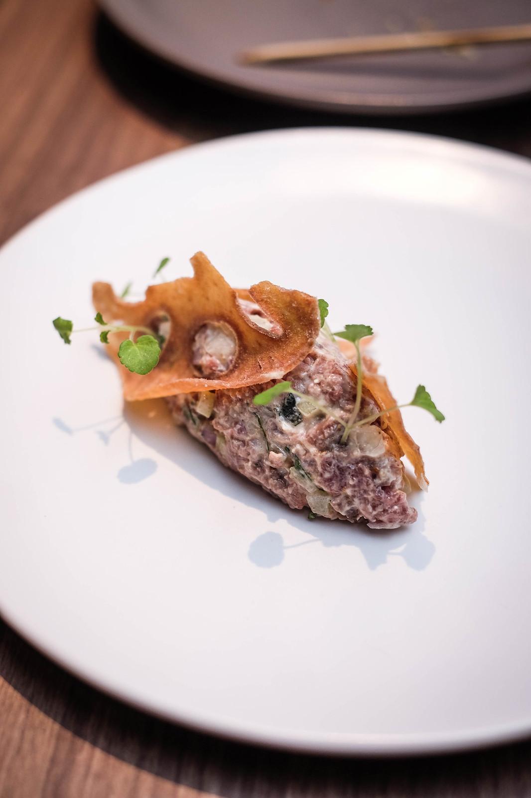 restaurant ibid Lamb Tartare
