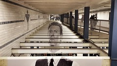 David Bowie Subway Takeover at Broadway-Lafayette, NYC