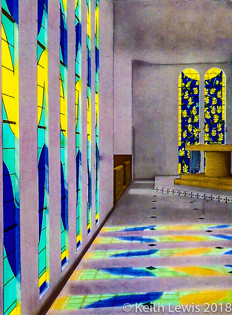 The Matisse Chapel in Vence ( A scan of a photograph taken in 1983)