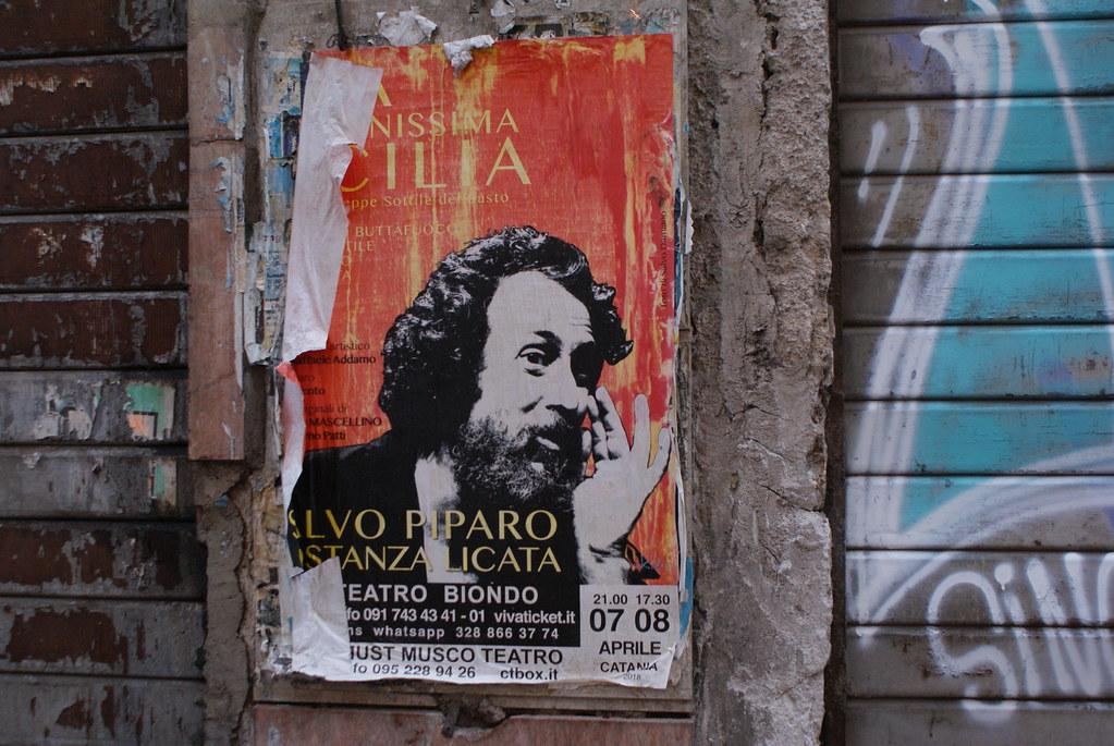 Affiche de théâtre à Palerme.