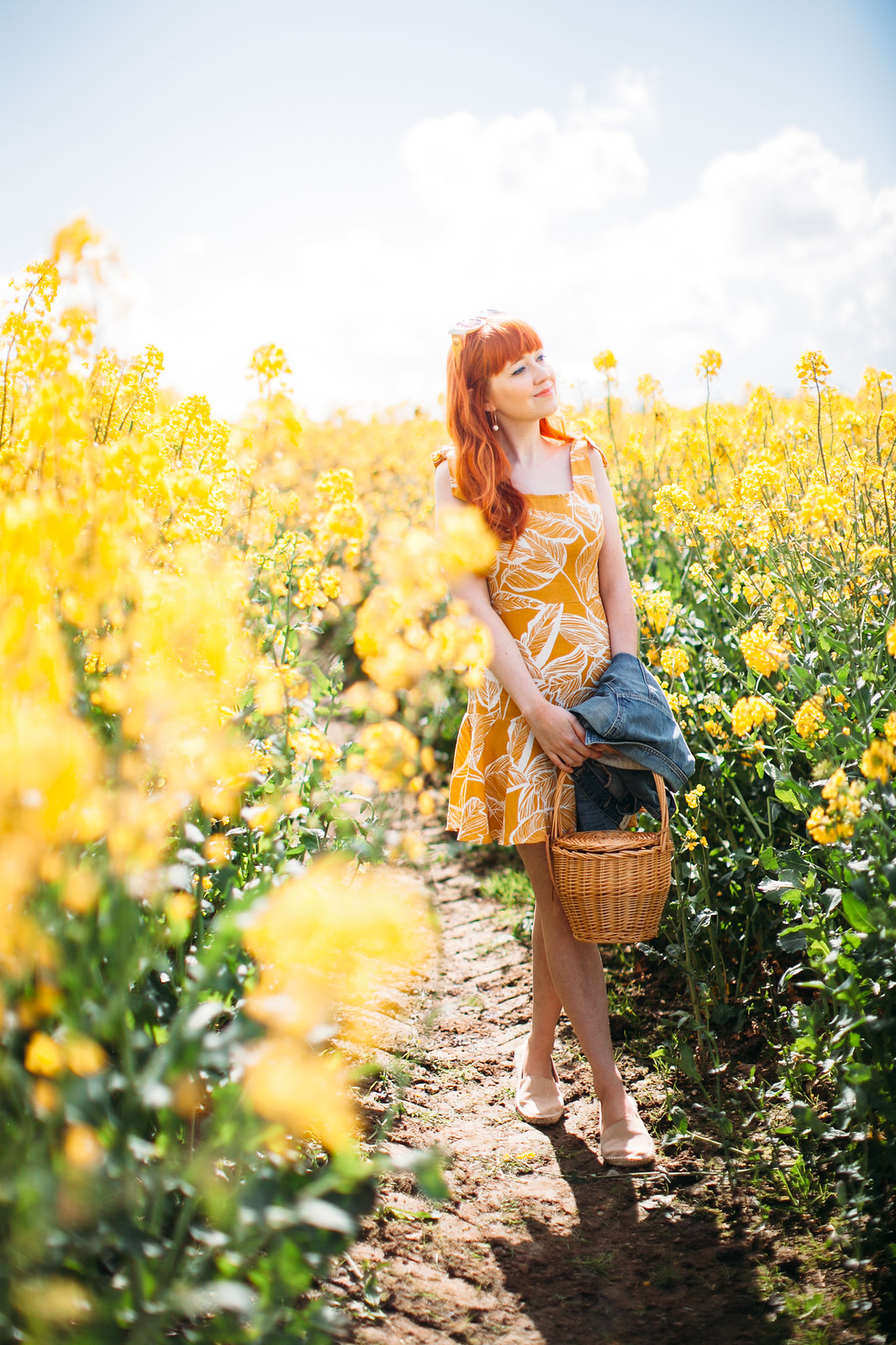 yellow dress field-23