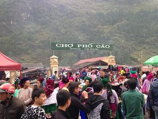 フォーカオ(Pho Cao)のマーケットを見に行く