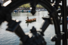 Zurich - Fisherman on the Limmat River