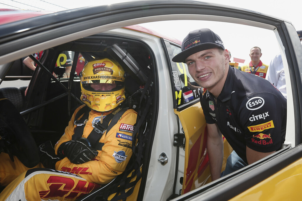 CORONEL Tom, (nld), Honda Civic TCR team Boutsen Ginion Racing, portrait, VERSTAPPEN Max (nld), Red Bull F1 driver, portrait, during the 2018 FIA WTCR World Touring Car cup of Zandvoort, Netherlands from May 19 to 21 - Photo Jean Michel Le Meur / DPPI