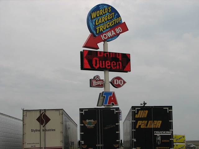Largest Truck Stop http://www.flickr.com/photos/dreadedhill/233503115/