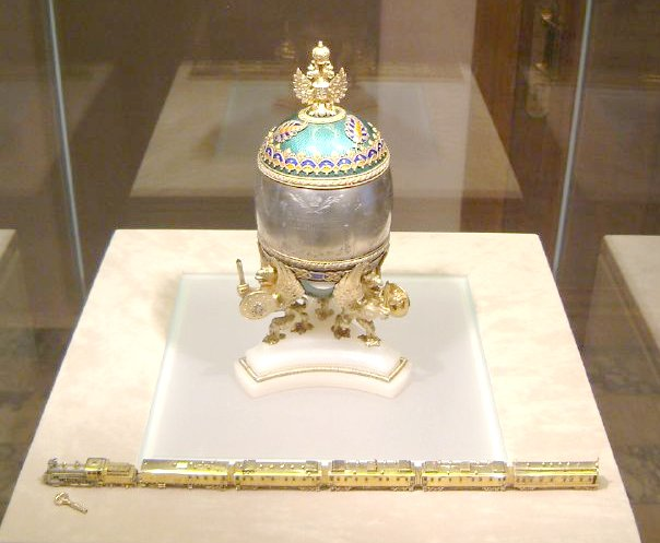 Faberge Train Egg Kremlin April 2003