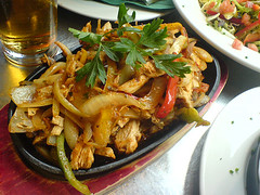 Chicken Fajitas at Ryans Bar, Edinburgh